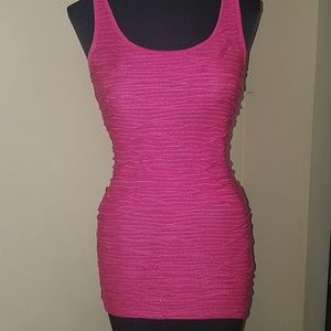 BKE hot pink tank top size small